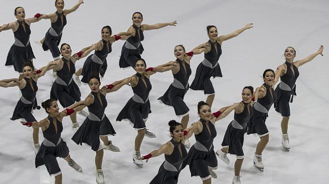 Senkronize Buz Pateni Şampiyonası sona erdi
