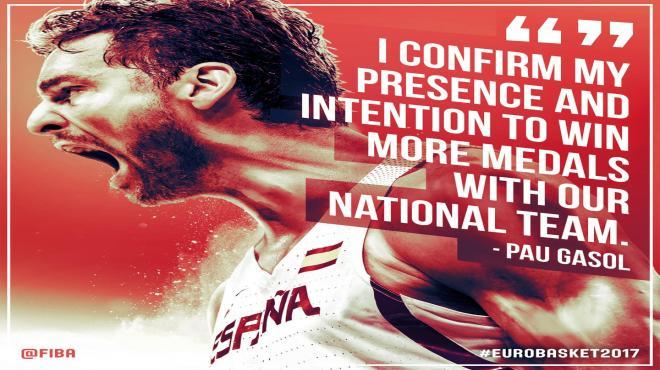 Pau Gasol daha fazla madalya istiyor! #Eurobasket2017