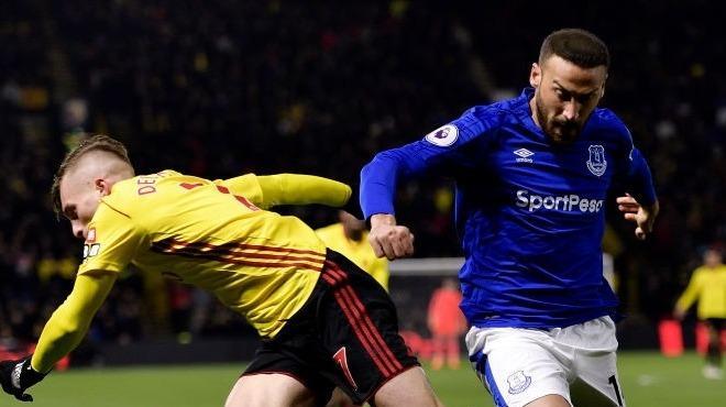 Cenk Tosun'lu Everton Watford'a kaybetti