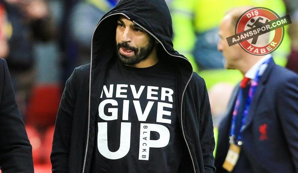 """Mohamed Salah'tan takım arkadaşlarına destek: """"Never give up"""""""