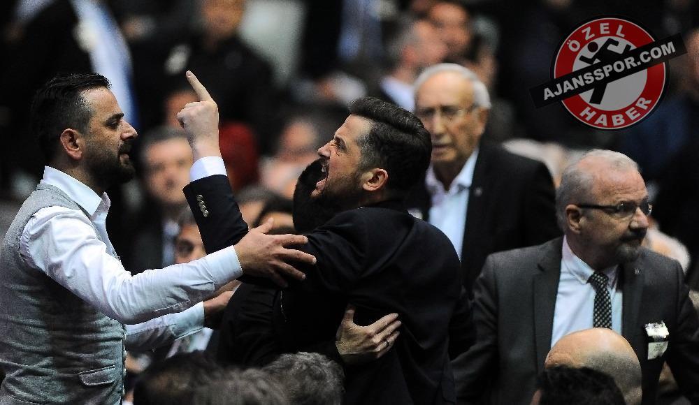 """Beşiktaş'ta genel kurul karıştı! """"Bugün bu salonda kul hakkı yendi!"""""""