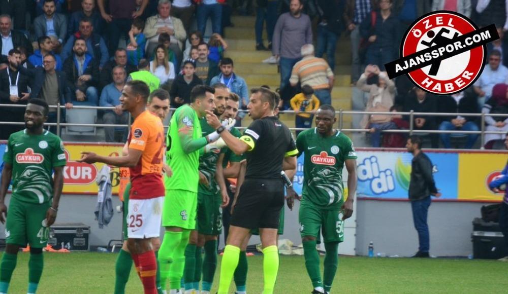 """Rizespor'dan flaş açıklama: """"Galatasaray maçının tekrar oynanması için TFF'ye başvuruda bulunacağız"""""""