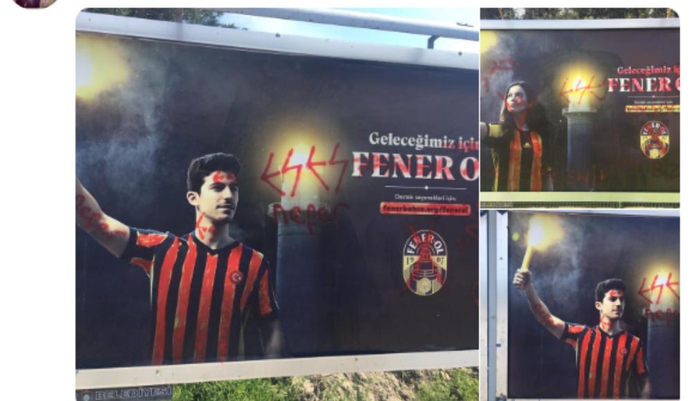 Eskişehir'de 'Fener Ol' afişlerine müdahale