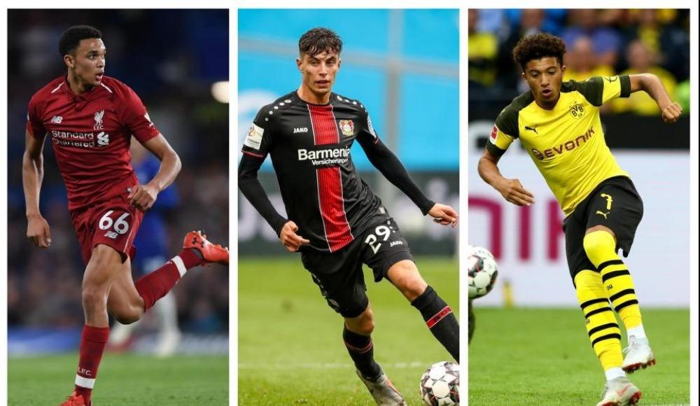 2018-19 sezonunda istatistikleri alt üst eden genç yıldızlar! Sancho, Havertz, Mbappe, Onyekuru, Alexander-Arnold..