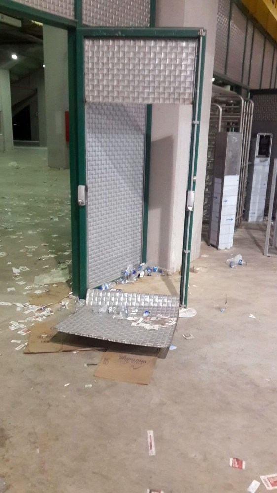Bursaspor'un stadyumunda 1.5 milyon TL'lik zarar
