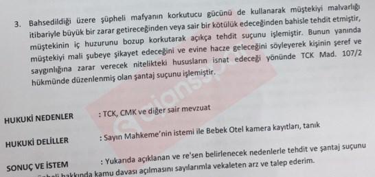 Şafak Mahmutyazıcıoğlu hakkındaki suç duyurusunun 2. sayfası...