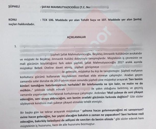Şafak Mahmutyazıcıoğlu hakkında suç duyurusu...