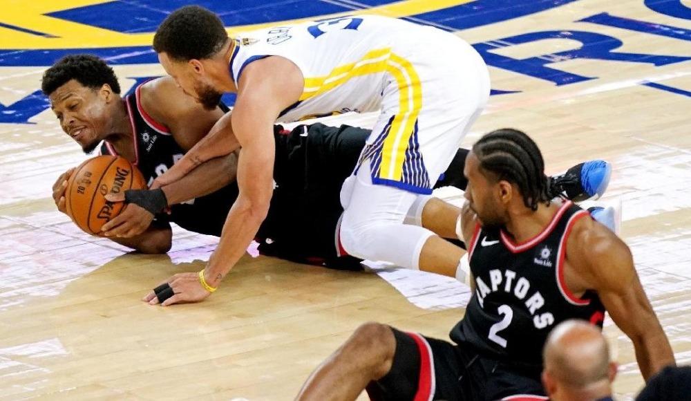Golden State Warriors - Toronto Raptors maçında Kyle Lowry ile tartışan adamın kimliği şaşırttı