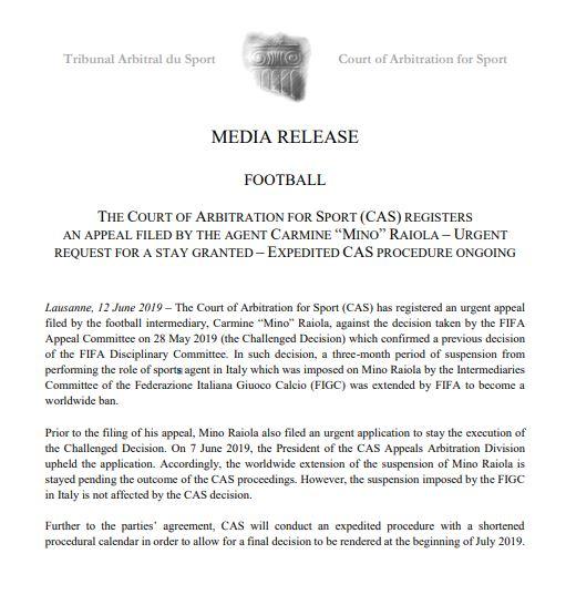 CAS'ın açıklaması