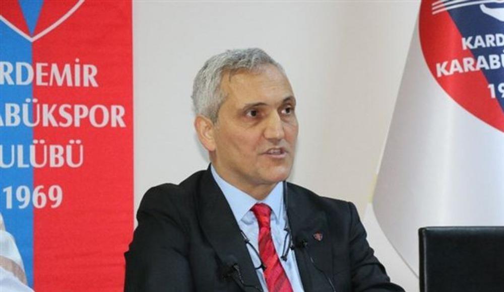 Karabükspor Başkanı Yüksel: ''Hiçbir personelimizin ve oyuncumuzun kulüpte alacağı yoktur''