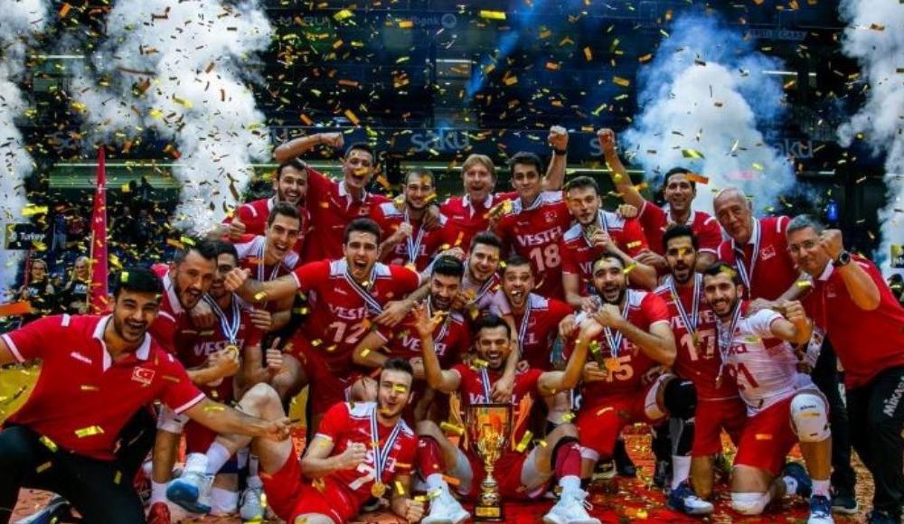Voleybol Avrupa Altın Ligi'nde Türkiye şampiyon oldu!