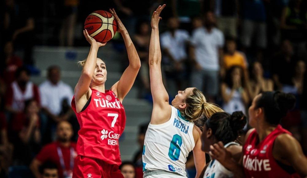 A Milli Kadın Basketbol Takımı, Slovenya'ya 65-55 mağlup oldu