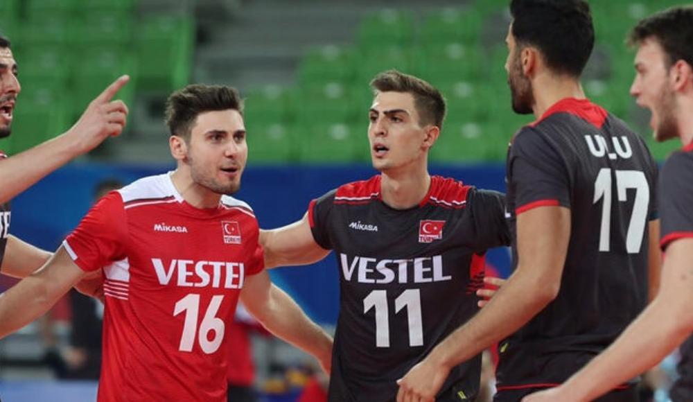 A Milli Erkek Voleybol Takımı, Slovenya'ya 3-1 mağlup oldu