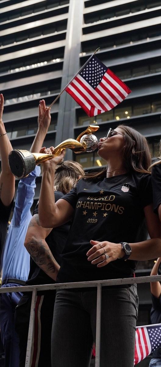 ABD'nin 2019 FIFA Kadınlar Dünya Kupası zaferi kutlandı