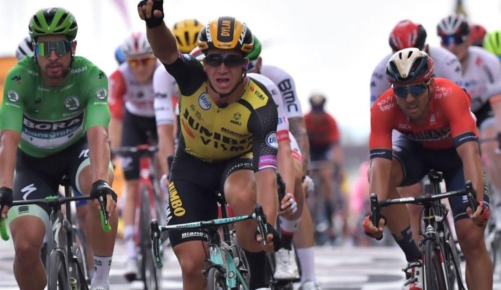 Fransa Bisiklet Turu'nun 7. etabında, Groenewegen ilk sırada yer aldı
