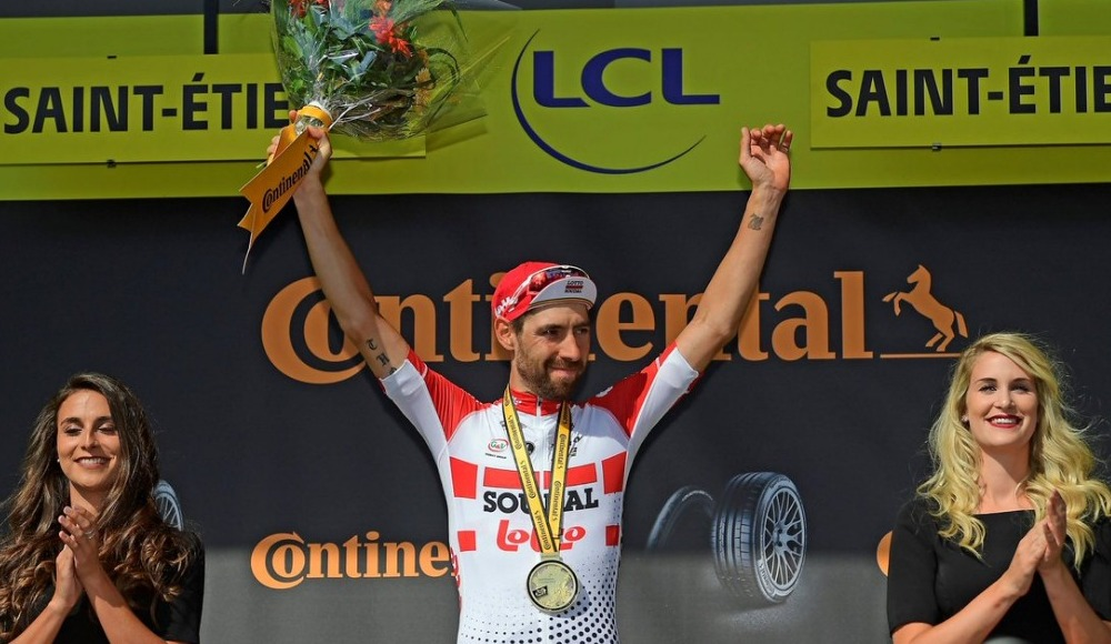 Fransa Bisiklet Turu'nun sekizinci etabını Thomas De Gendt kazandı