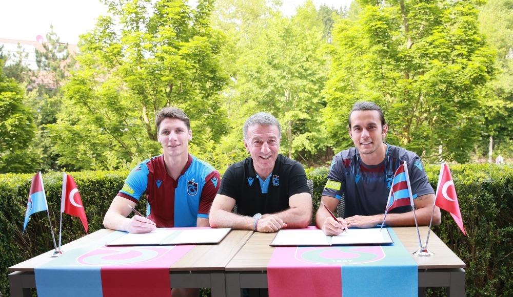 Trabzonspor'da yeni transferler için imza töreni düzenlendi