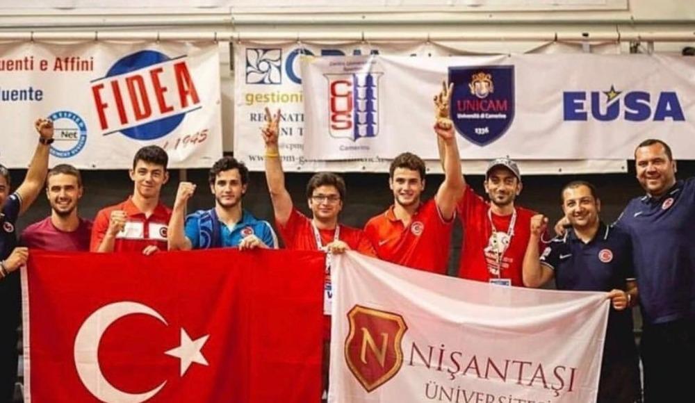 Nişantaşı Üniversitesi masa tenisinde üst üste 2'nci kez Avrupa şampiyonu