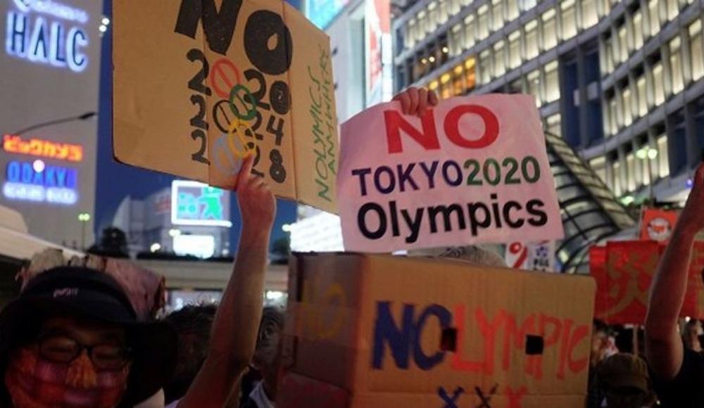 Tokyo'da Olimpiyat protestosu!