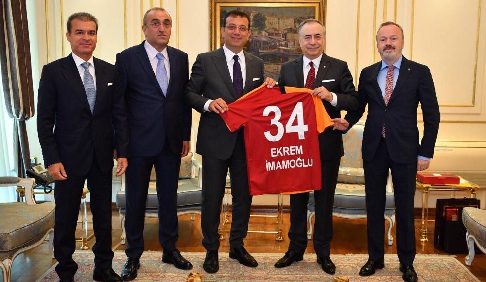 Galatasaray yönetiminden Ekrem İmamoğlu'na ziyaret!