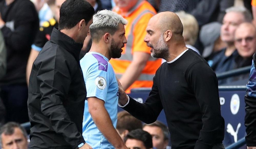 Sert tartışma! Guardiola ve Agüero...