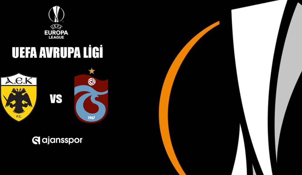AEK - Trabzonspor (Canlı Skor)