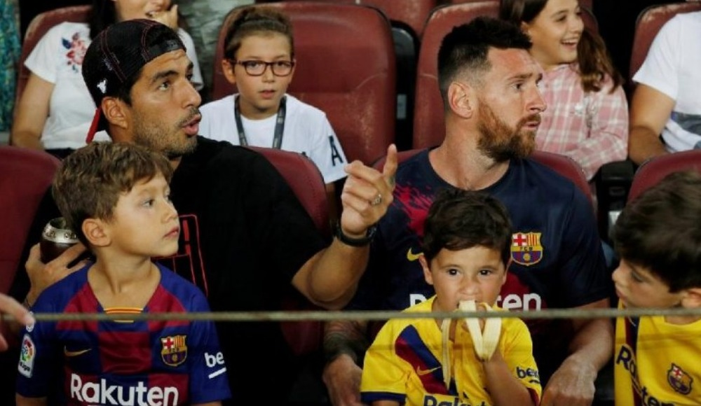 Messi'nin oğlu Betis'in attığı gole sevindi! Suarez'in tepkisi...