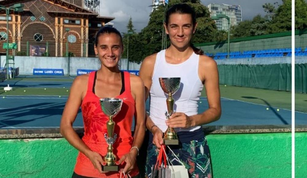 Melis Sezer, Gürcistan'da çiftler şampiyonu oldu