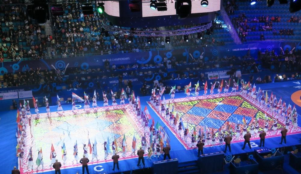 Dünya Güreş Şampiyonası'nın açılış töreni yapıldı