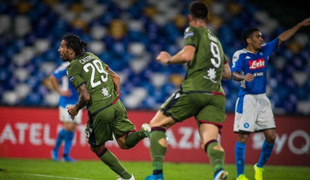 Napoli, Cagliari'ye mağlup oldu