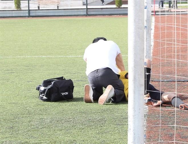 Futbol sahasında korkutan dakikalar