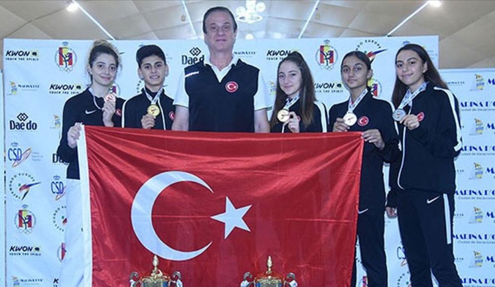 Milli tekvandoculardan Avrupa Şampiyonası'nda 5 madalya