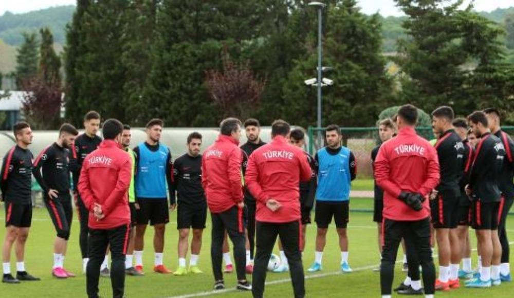 Ümit Milli Takım, Avusturya maçı hazırlıklarını sürdürdü