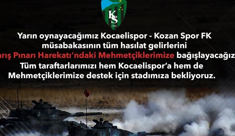 Kocaelispor'dan Mehmetçiklerimize destek