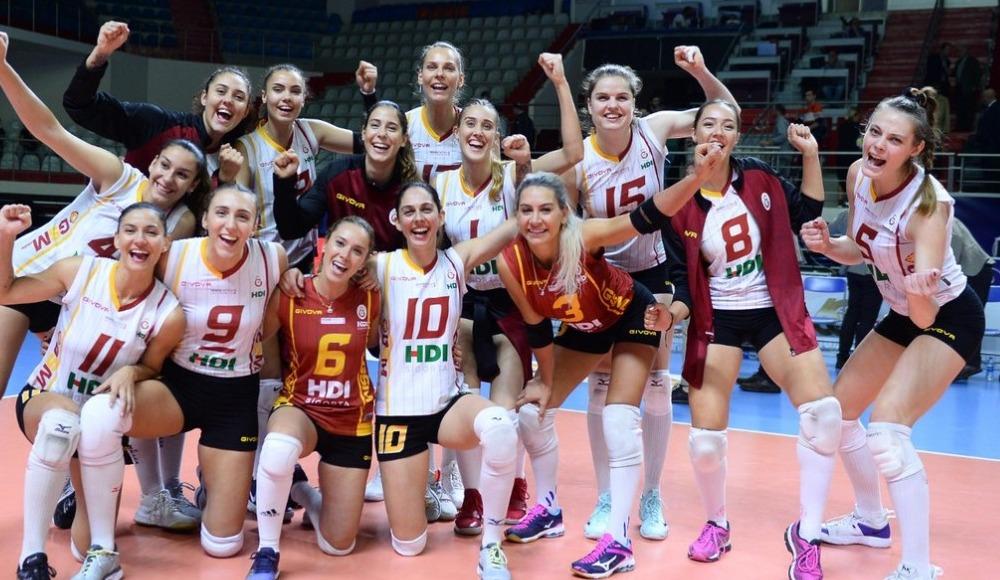 Galatasaray HDI Sigorta sahasında, Karayolları'nı 3-0 yendi