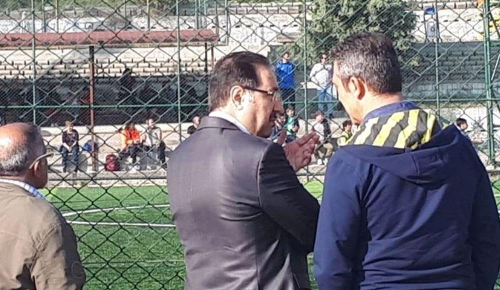 Fenerbahçe Başkanı Ali Koç Gülensu'da altyapı maçı izledi