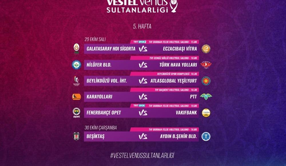 Vestel Venus Sultanlar Ligi'nde 5. Hafta Başlıyor