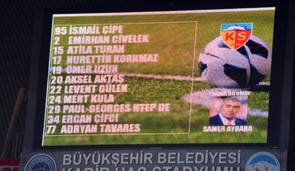 Kayserispor'da teknik direktör gafı