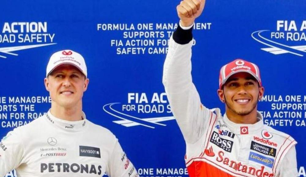Hamilton, Schumacher'e bir adım daha yaklaştı