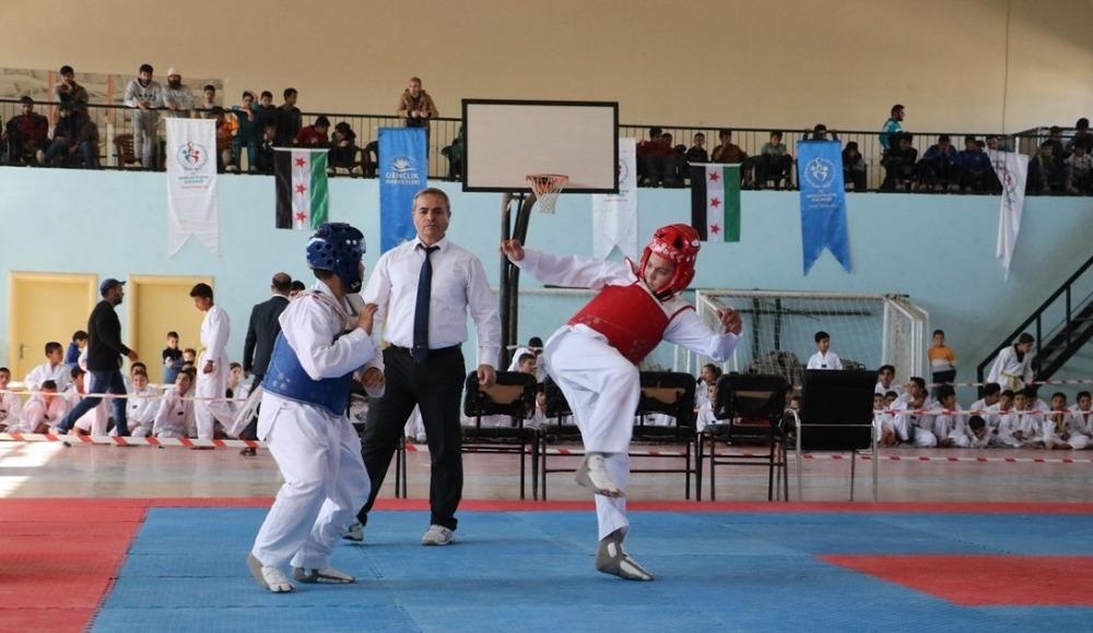 Afrin'de tekvando turnuvası yapıldı