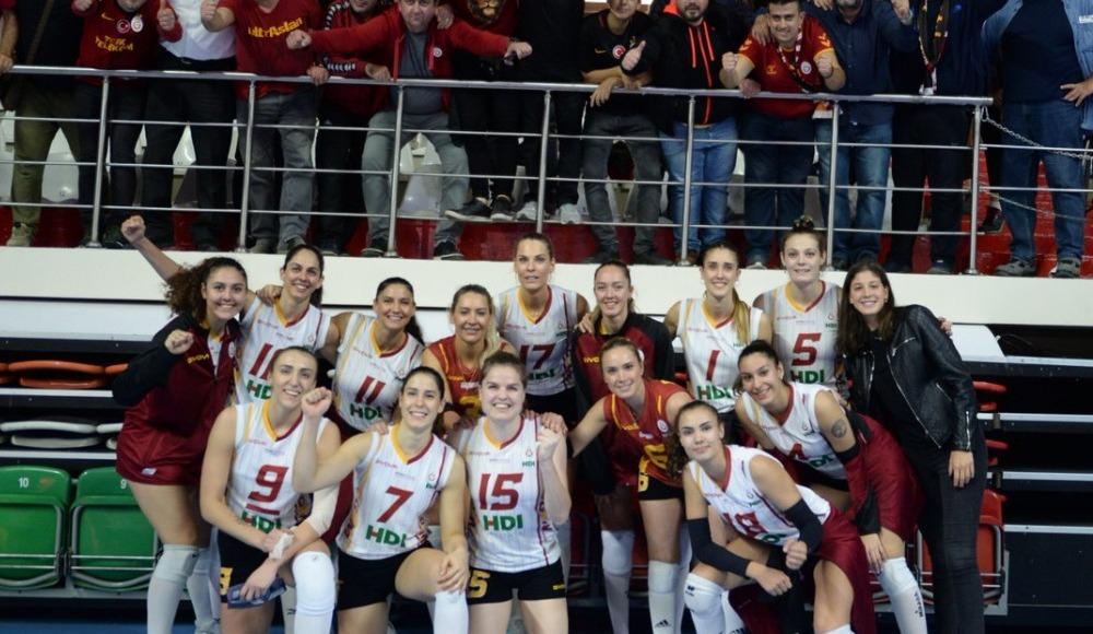 Galatasaray HDI Sigorta, Türk Hava Yolları'nı 3-2 yendi