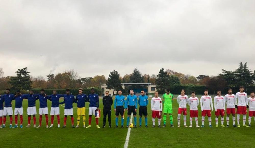 20 Yaş Altı Milli Futbol Takımı, Fransa'ya 4-0 yenildi