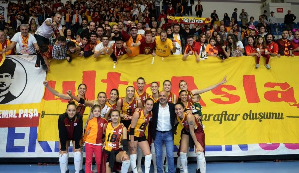 Galatasaray HDI Sigorta, Atlasglobal Yeşilyurt'u 3-0 yendi