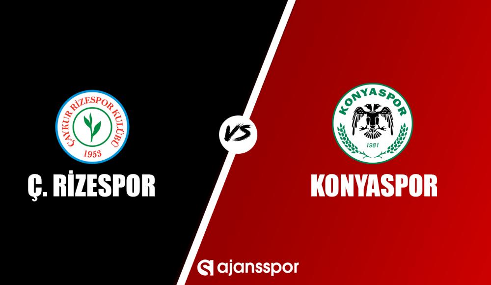 Çaykur Rizespor - Konyaspor (Canlı Skor)