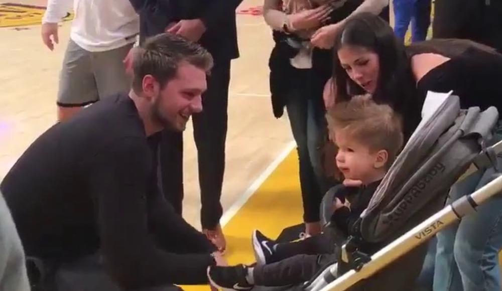 Luka Doncic, 22 aylık bebeğin yardımına koştu