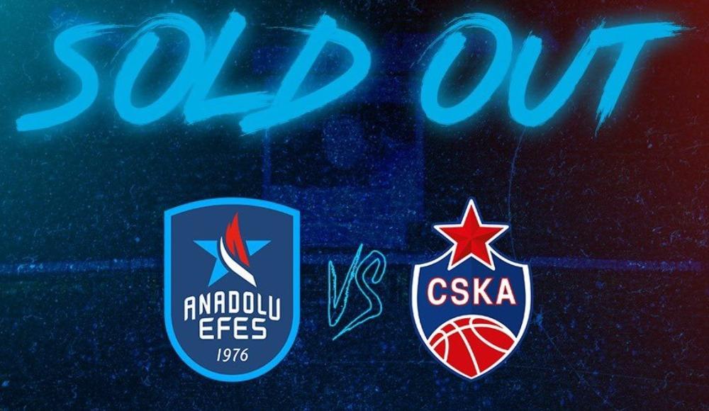 Anadolu Efes - CSKA Moskova karşılaşması kapalı gişe