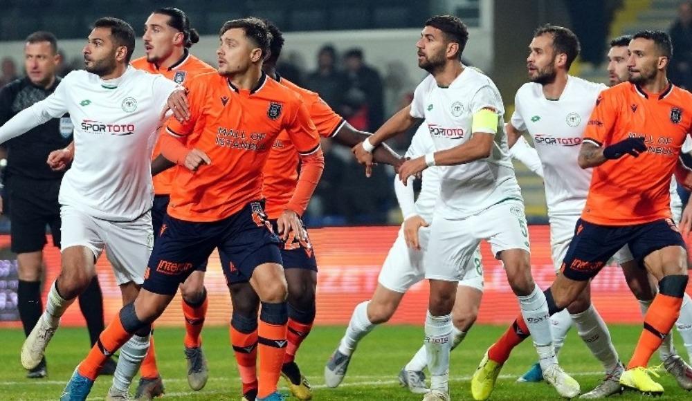 Başakşehir, Konyaspor'a da puan bıraktı! 1-1