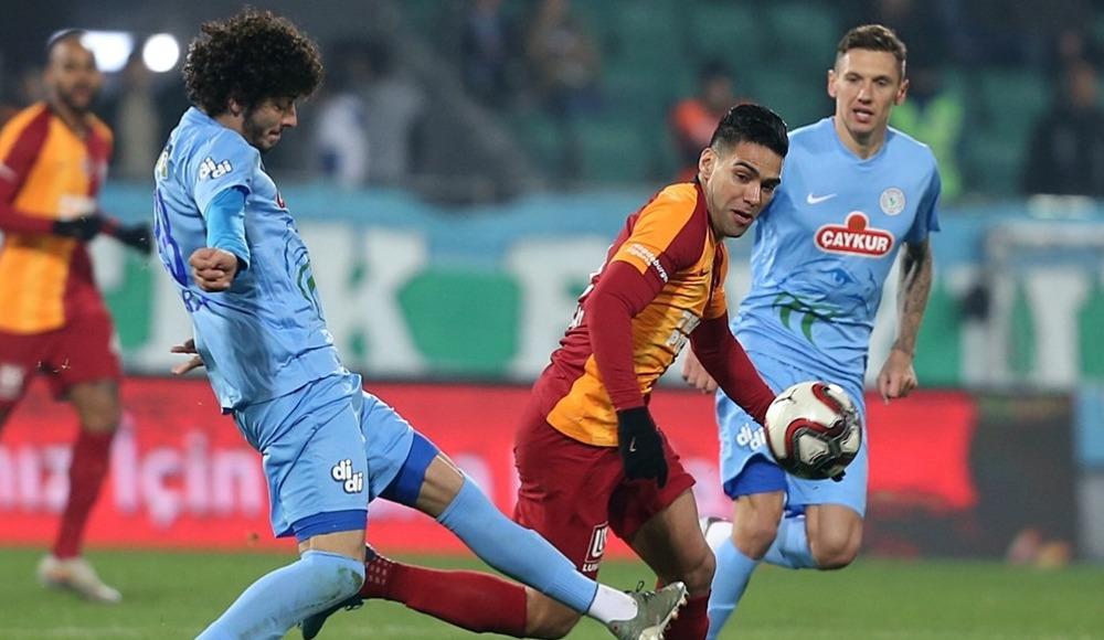 Galatasaray, Rize deplasmanından beraberlikle döndü! 1-1