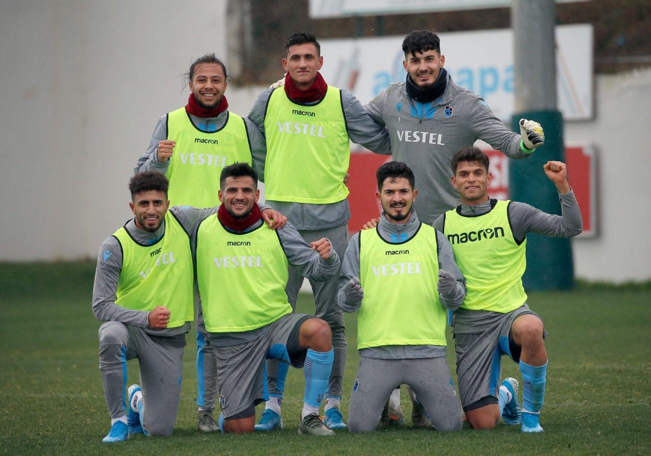 Trabzonspor 2 grup halinde çalıştı!