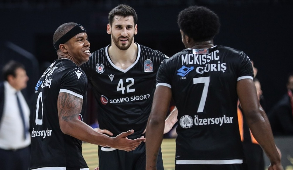 Beşiktaş Avrupa liderini devirdi! Shaq McKissic'ten 38 sayı...